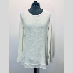 Calvin Klein Sheer  Long Sleeve Tunic